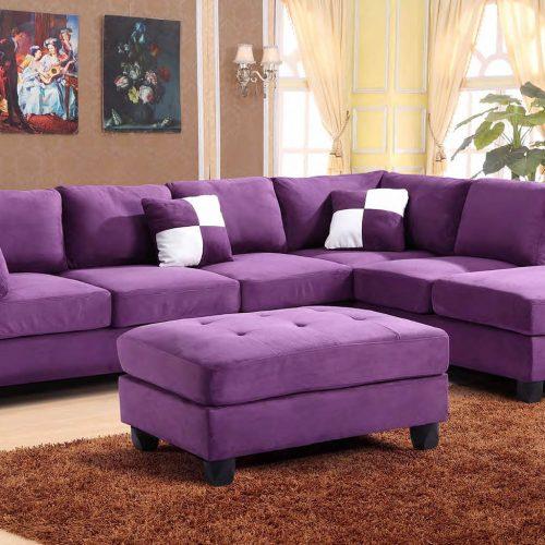 Kursi Tamu Sofa Jati Minimalis Modern Warna Ungu Sobat Furniture