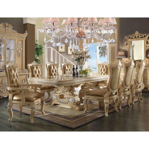 kursi makan mewah ukiran jepara warna cream, kursi makan mewah, kursi makan ukiran, kursi makan eelegan, set kursi makan