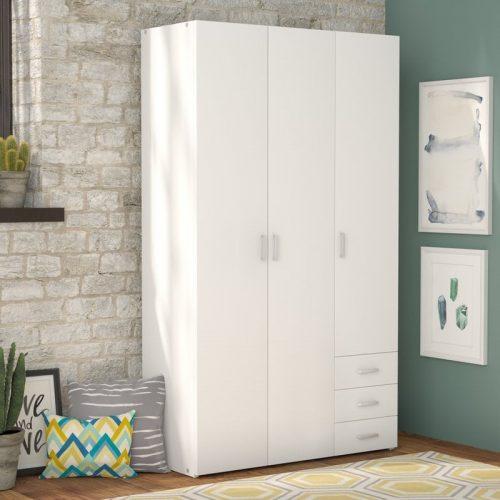 Lemari Pakaian Putih 3 pintu model minimalis, lemari pakaian minimalis, lemari pakaian kayu, lemari pakaian terbaru, model lemri pakaian, jual lemari pakaian, harga lemari pakaian, furniture jepara, mebel jepara