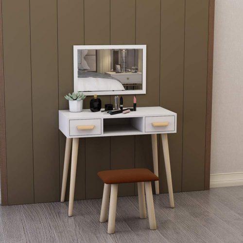 meja rias modern minimalis set kursi cermin, set meja rias, meja rias + kursi, meja rias cermin, meja rias laci, jual meja rias, harga meja rias, meja rias murah