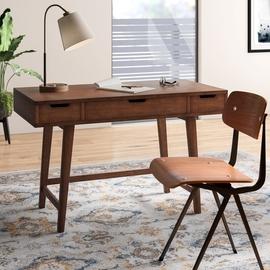 meja kerja dirumah desain simple modern jati - sobat furniture